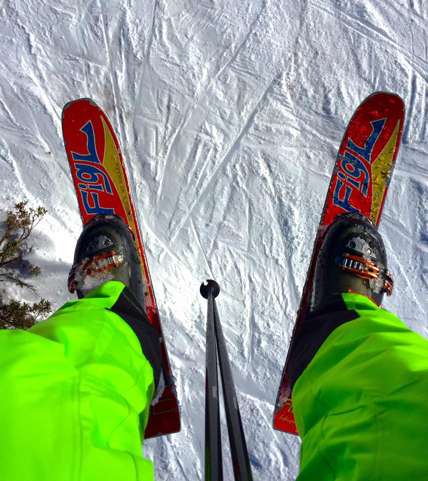 Who remembers skiing on these?